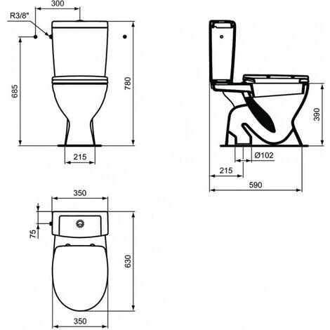 Volver a montar la cisterna del WC