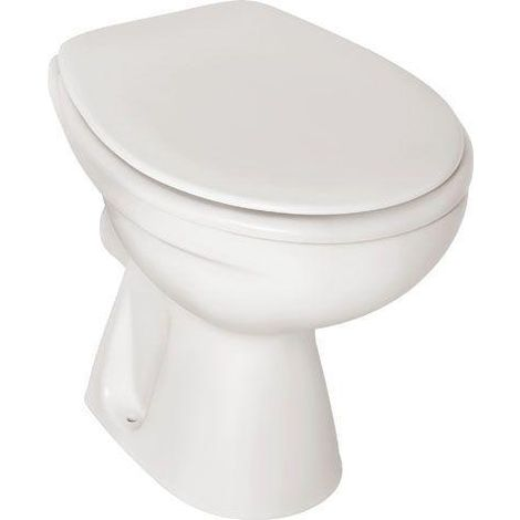 Ideal Standard Eurovit Tiefspül-Stand-WC Abgang außen waagerecht L:48,5xB:36cm Weiß Alpin V312201