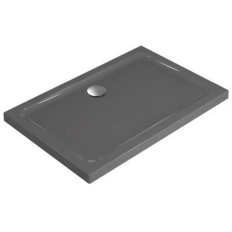 Ideal Standard Idealsmart Receveur Rectangulaire extra-plat antidérapant, à poser 120 x 90 cm, Gris émaillé (R1556YT)