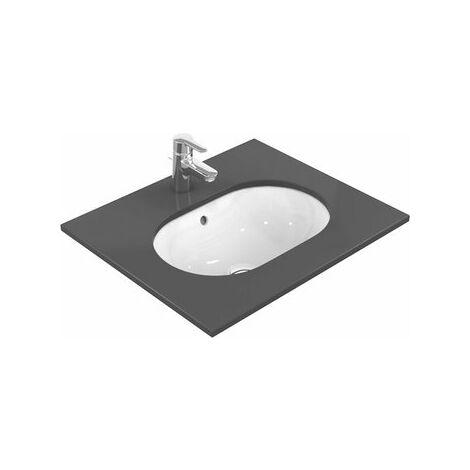 Ideal Standard Lavabo à encastrer Connect ovale 620mm E505050, Coloris: Blanc avec Idéal Plus - E5050MA