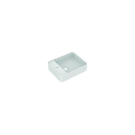 Ideal Standard Lavabo à poser Strada II T2964, 1 trou pour robinet sur le côté, trop-plein, avec kit de fixation, 500x350 mm, Coloris: Blanc avec Idéal Plus - T2964MA