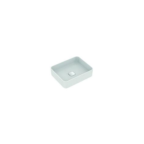 Ideal Standard Lavabo à poser Strada II T2967, sans trou pour robinet, sans trop-plein, avec kit de fixation, 500x400 mm, Coloris: Blanc avec Idéal Plus - T2967MA