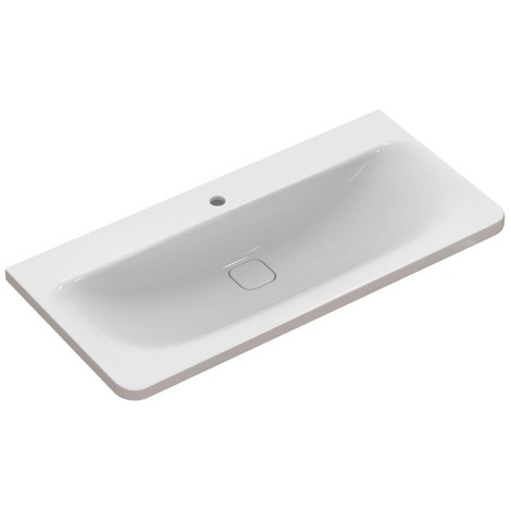 Ideal Standard - Lavabo-plan 101,5cm percé 1 trou blanc installation avec meuble - TONIC II