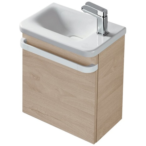 Ideal Standard - Meuble lave-mains droite chêne cérusé - TONIC II