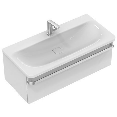 Ideal Standard Meuble sous-lavabo TONIC II, 1000mm, 1 tiroir R4304, Coloris: Laqué gris clair brillant - R4304FA