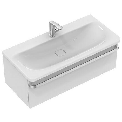 Ideal Standard Meuble sous-lavabo TONIC II, 1000mm, 1 tiroir R4304, Coloris: Laqué marron clair brillant - R4304FC