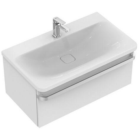 Ideal Standard Meuble sous-lavabo TONIC II, 800mm, 1 tiroir R4303, Coloris: Laqué gris clair brillant - R4303FA