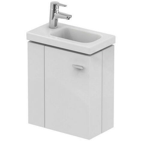 Ideal Standard - Meuble sous lave-mains 45cm gauche blanc brillant - CONNECT SPACE