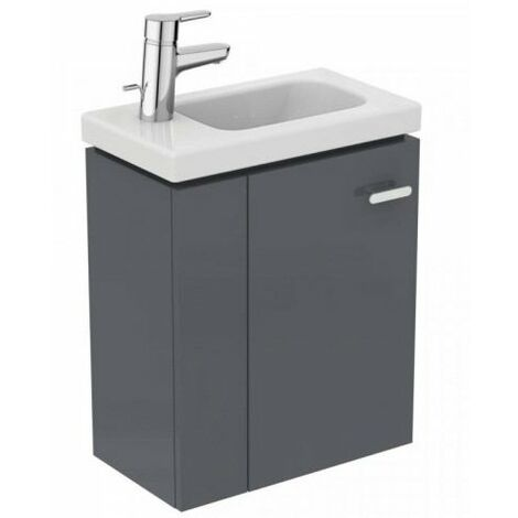 Ideal Standard - Meuble sous lave-mains 45cm gauche gris macadam - CONNECT SPACE