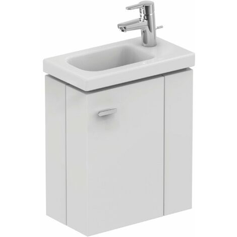 Ideal Standard - Meuble sous lave-mains 45cm version droite blanc brillant - CONNECT SPACE