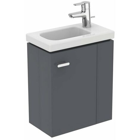 Ideal Standard - Meuble sous lave-mains 45cm version droite gris macadam - CONNECT SPACE