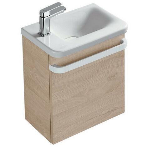 Ideal Standard - Meuble sous lave-mains gauche chêne cérusé - TONIC II