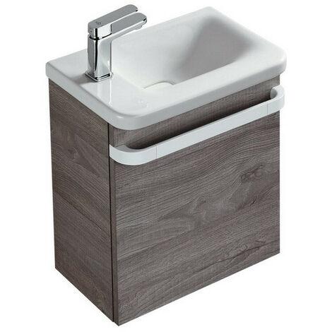 Ideal Standard - Meuble sous lave-mains gauche chêne grisé - TONIC II