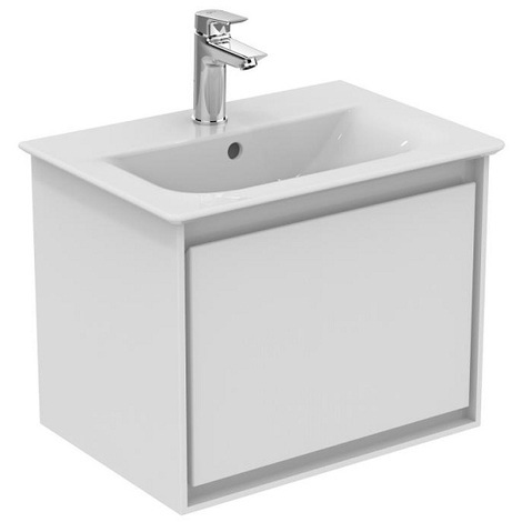 Ideal Standard - Meuble sous plan 50 cm 1 tiroir Blanc laqué / Blanc mat - CONNECT AIR