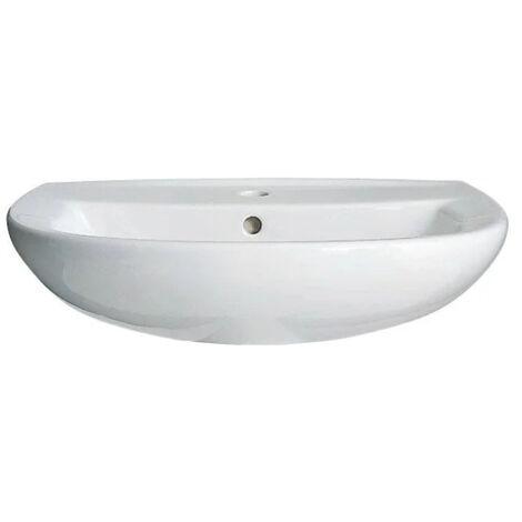 Ideal Standard ODYSSEE Lavabo suspendu en porcelaine vitrifiée avec trop plein et perçage, 60x46cm (P133501)