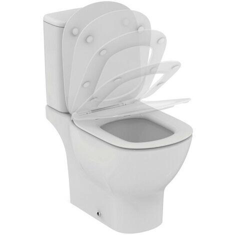 Ideal Standard - Pack WC Aquablade sans bride sortie horizontale alimentation latéral avec abattant frein de chute - TESI