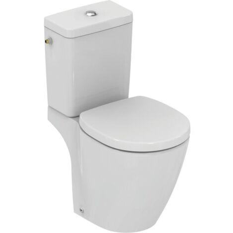 Ideal Standard - Pack WC cuvette sortie horizontale avec Abattant frein de chute Blanc - CONNECT SPACE - TNT