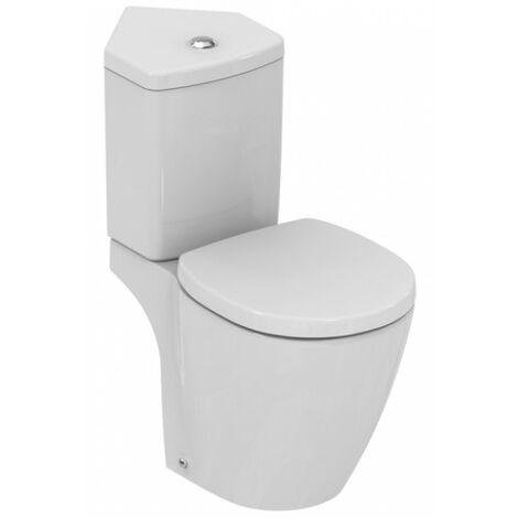 Ideal Standard - Pack WC d'angle avec abattant prêt à poser en porcelaine - CONNECT SPACE - TNT