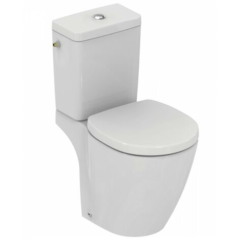 Ideal Standard - Pack WC (gain de place) sortie horizontale avec Abattant Blanc - CONNECT SPACE