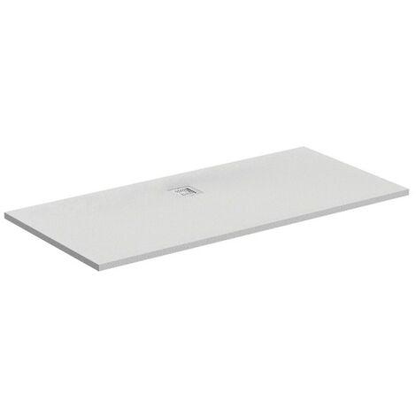 Ideal Standard Receveur de douche rectangulaire Ultra Flat S 1700x800mm, centré drain, K8284, Coloris: gris quartz - K8284FS