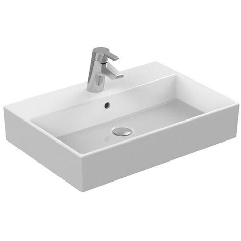 Ideal Standard Strada 600mm lavabo sur le dessus, avec robinet sur établi K0781, Coloris: Blanc avec Idéal Plus - K0781MA