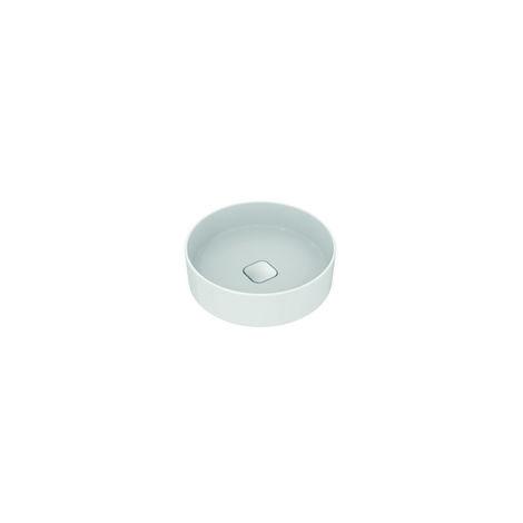 Ideal Standard Strada II Lavabo de sobre encimera redondo T2959, sin agujero para grifo, sin rebosadero, incl. kit de fijación, diámetro 450 mm, color: Blanco - T295901