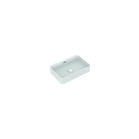 Ideal Standard Strada II Lavabo de sobre encimera T2999, sin grifo, rebosadero, incl. kit de fijación, 600x400 mm, color: Blanco con Ideal Plus - T2999MA