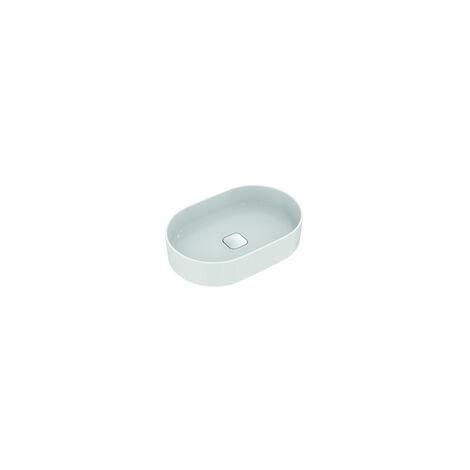 Ideal Standard Strada II Plan vasque à poser ovale T2981, sans trou pour robinet, sans trop-plein, avec kit de fixation, 600x400 mm, Coloris: Blanc - T298101