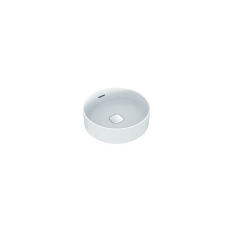 Ideal Standard Strada II Plan vasque à poser rond T2961, sans trou pour robinet, trop-plein, avec kit de fixation, diam. 450 mm, Coloris: Blanc - T296101