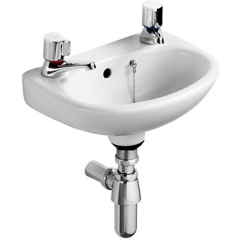 Ideal Standard Studio Basin 350mm Wide 2 Tap Holes