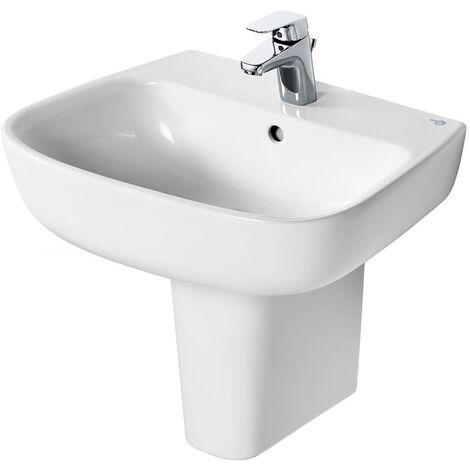Ideal Standard Studio Echo Basin and Semi Pedestal 500mm Wide - 1 Tap Hole