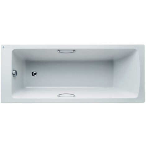 Ideal Standard Tempo Arc Single Ended Rectangular Bath with Grips 1700 x 700mm - 0 Tap Holes