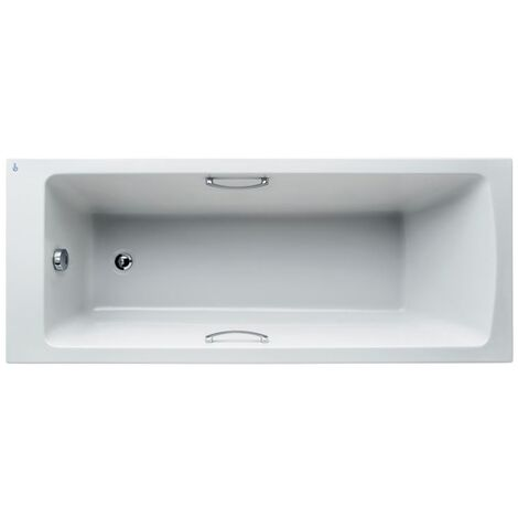 Ideal Standard Tempo Arc Single Ended Water Saving Bath with Grips 1700 x 700mm - 0 Tap Holes