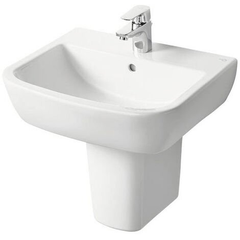 Ideal Standard Tempo Basin and Semi Pedestal 550mm Wide 1 Tap Hole