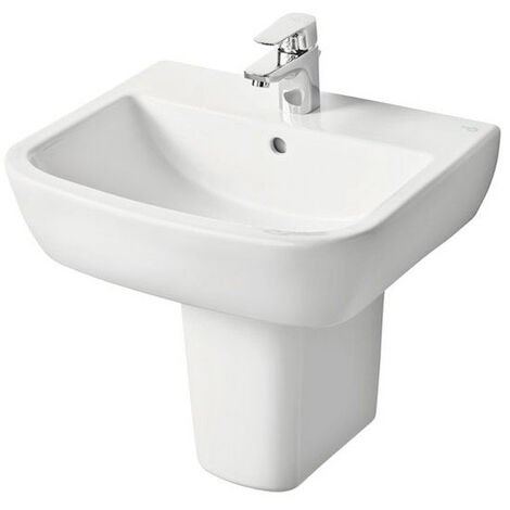 Ideal Standard Tempo Basin and Semi Pedestal 600mm Wide 1 Tap Hole