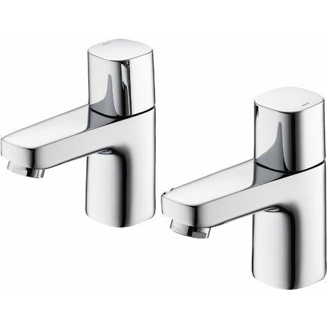 Ideal Standard Tempo Basin Pillar Taps Pair Chrome