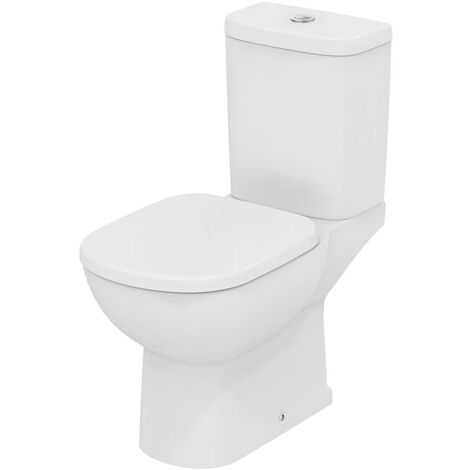 Ideal Standard Tempo Close Coupled Toilet 4/2.6 Litre Dual Flush Cistern with Vertical Outlet - Soft Close Seat