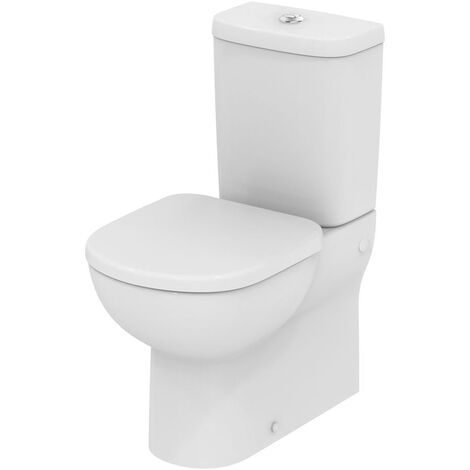Ideal Standard Tempo Close Coupled Toilet - Push Button Cistern - Standard Seat