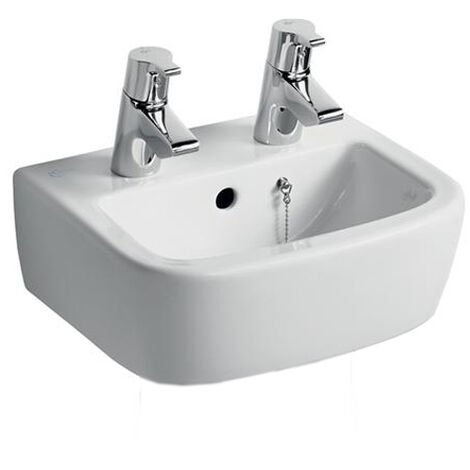 Ideal Standard Tempo Handrinse Washbasin 350mm Wide 2 Tap Holes