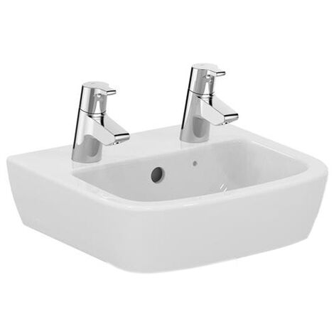 Ideal Standard Tempo Handrinse Washbasin 400mm Wide 2 Tap Holes