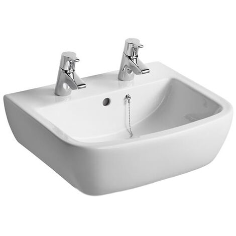 Ideal Standard Tempo Washbasin 500mm Wide 2 Tap Holes