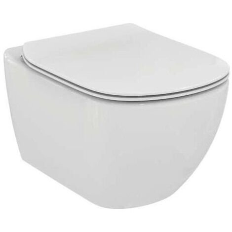 Ideal Standard Tesi Rimless -Suspended Toilet bowl with soft close toilet seat (T355101)