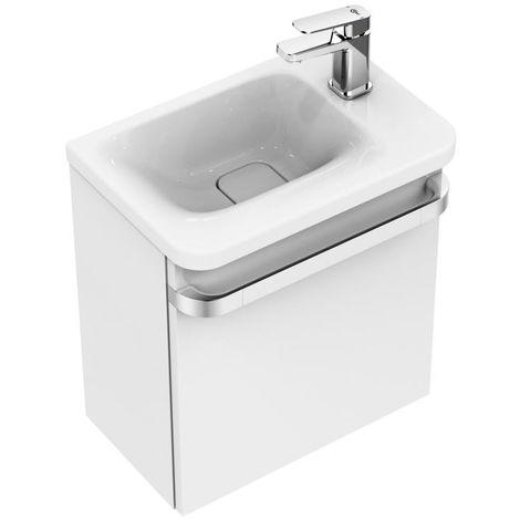 Ideal Standard Tonic II Lavabo para manos, 460mm, estante derecho, K0867, color: Blanco con Ideal Plus - K0867MA