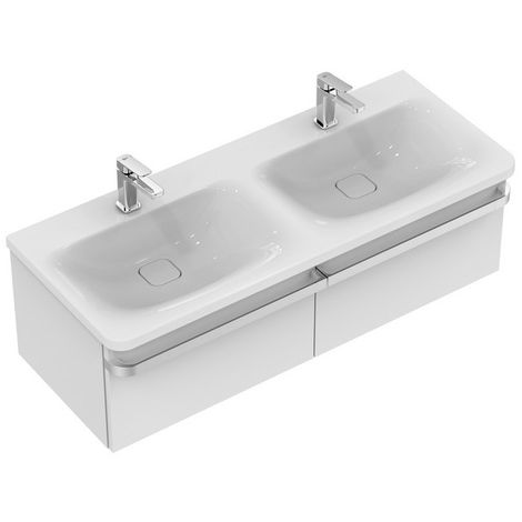Ideal Standard TONIC II Módulo de lavabo, 1200mm, 2 cajones R4305, color: Lacado blanco brillo intenso - R4305WG