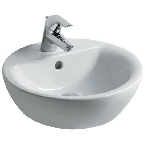 Ideal Standard - Vasque à poser percé 1 trou Ø 43 cm en grès fin blanc - CONNECT
