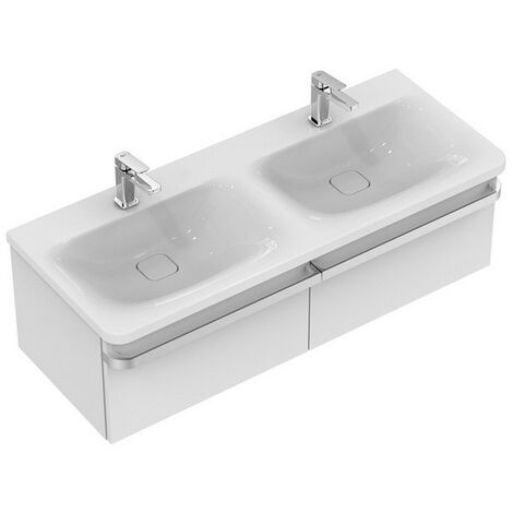Ideal Standard Waschtischunterschrank Tonic II, 2 Ausz., 1200x440x350mm, Eiche grau Dekor, R4305FE