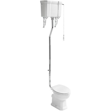 Ideal Standard Waverley High Level Toilet with Cistern - Standard White Seat