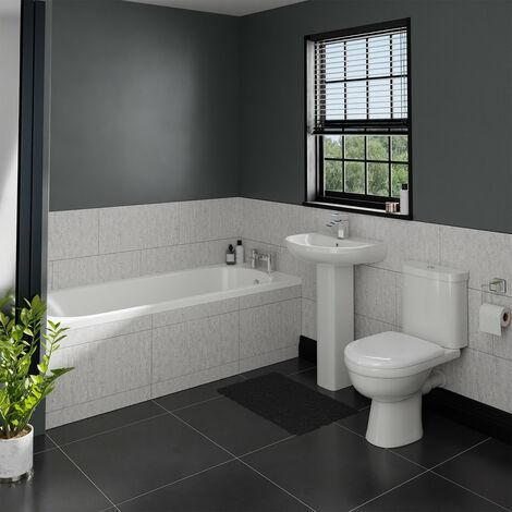 Ideal Straight Bathroom Suite
