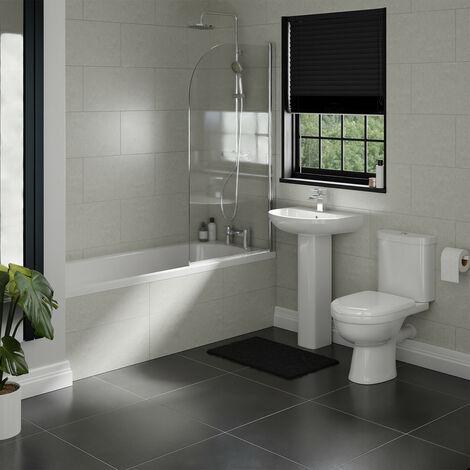 Ideal Straight Shower Bath Suite