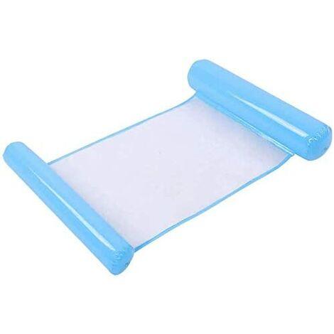 Ideal Swan Hamac Flottant Gonflable Hamac Piscine 4-en-1 [Hamac + Chaise Longue + Drifter + Selle d'exercice] pour Piscine Plage Mer - Bleu(Bleu clair)